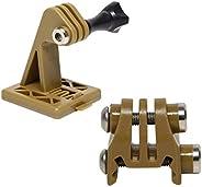 Rail Mounts or Helmet Excavator Mounts Bracket Adapter for Picatinny Rails GoPro Action Camera