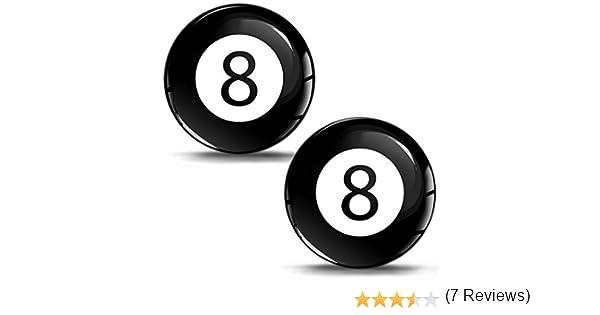 SkinoEu® 2 x 30mm 3D Gel Silicona Stickers Pegatinas Adhesivo Billiard Ball Numero 8 Bola de Billar Deporte Autos Coches Moto Ciclomotores Bicicletas Ordenador Portátil Tuning KS 40: Amazon.es: Coche y moto