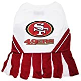 Pets First SAN FRANCISCO 49ERS CHEERLEADER DOG DRESS COSTUME LICENSED NFL (Small)