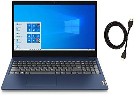 Lenovo IdeaPad 3 15.6″ FHD IPS LED Backlit Anti-Glare Laptop   AMD Quad-Core Ryzen 5 3500U   20GB DDR4 RAM   1TB SSD   Windows 10   Abyss Blue   with Woov High Speed 6FT HDMI Cable Bundle
