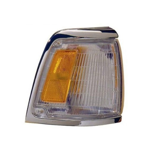 - 1992-1995 Toyota Pickup Truck 2WD 4x2 (With Chrome Trim, Paint to Match) Corner Park Light Turn Signal Marker Lamp Right Passenger Side (1992 92 1993 93 1994 94 1995 95)