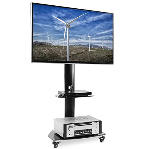 - Rfiver Universal Swivel Floor TV Stand Mobile TV Cart with Wheels fits Most 27