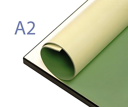 A2 Papyroboard Board Cover, 650mm x 470mm A2 drawing board protective sheet green / cream Orchard Drawing Boards