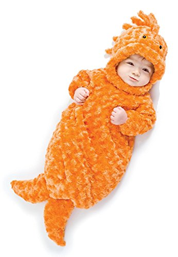 Easy Fish Costumes (Underwraps Baby's Gold Fish Bunting, Orange, Infant)