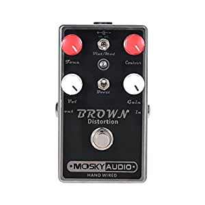 ammoon mosky brown distortion guitar effect pedal full metal shell true bypass. Black Bedroom Furniture Sets. Home Design Ideas