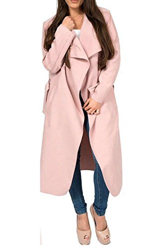 Missmister Ladies Wrap Cape Waterfall 24 Coat Belted Italian Cardigan Duster Pink Womens Jacket Dusty UK Trench Long 8 5r7q58w