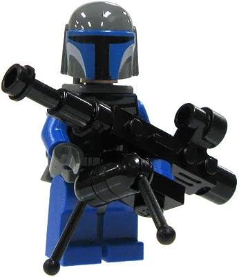 SW14-A3 LEGO Star Wars LOOSE Mini Figure Mandalorian Warrior with Heavy Blaster