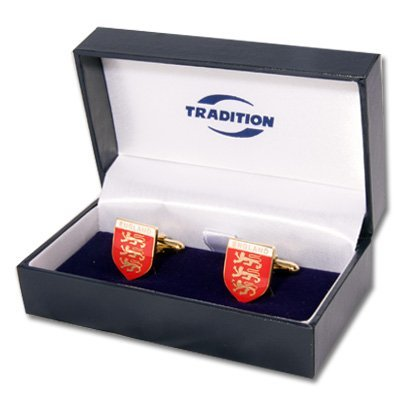 Three lions cufflinks, with presentation plate and gift boxed by (Emblem Cufflinks)