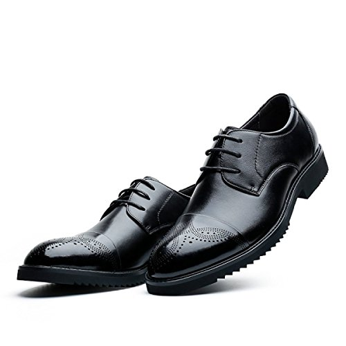 De Sculpté Marié NBWE Cuir Chaussures Black D'affaires Chaussures Chaussures Mariage De Hommes Bloc Véritable Robe wHwxqgX7vU