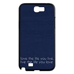 Love the Life You Live Cheap Custom Cell Phone Case Cover for Samsung Galaxy Note 2 N7100, Love the Life You Live Galaxy Note 2 N7100 Case Kimberly Kurzendoerfer