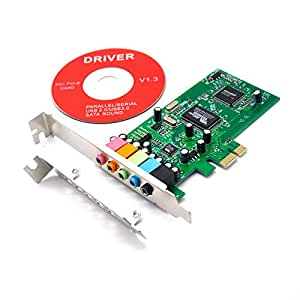 Amazon.com: Padarsey PCIe Sound Card for PC Windows 10, PCI ...