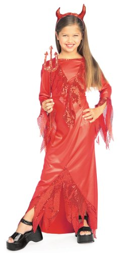 [Halloween Concepts Child's Devilish Diva Costume, Medium] (Devil Costume For Girls)