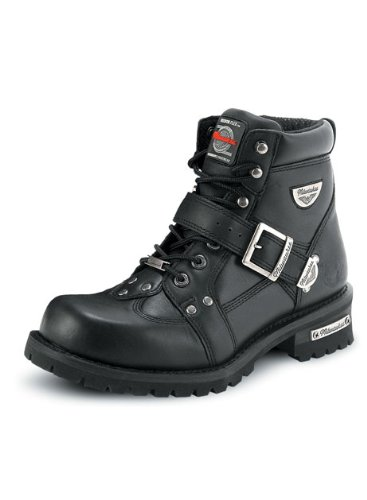[Milwaukee Motorcycle Clothing Company Men's Road Captain Motorcycle Boots (Size 11D)] (Milwaukee Harley Davidson)