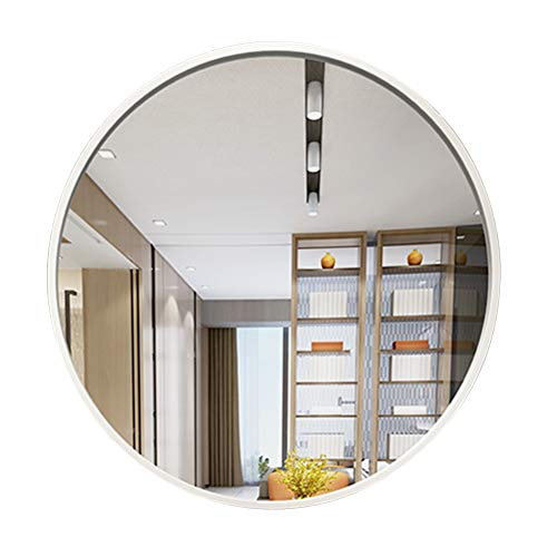 Bathroom Wall-Mounted Round Mirror - Metallic Framed Large Vanity Mirrors Shaving Mirror Magnifying Mirror Make-up Mirror - Bedroom Living Room Hallway ()