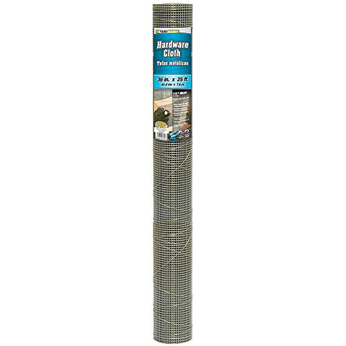 YARDGARD 308233B  23 Gauge 1/4 Inch Mesh 3 Foot x 25 Foot Galvanized Hardware - Hardware Cloth Galvanized