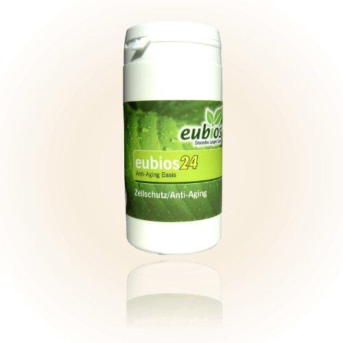 Eubios24, 24 ! Antioxidantien, Zellschutz und Anti-Aging forte, Monatspackung, deutsche Herstellung