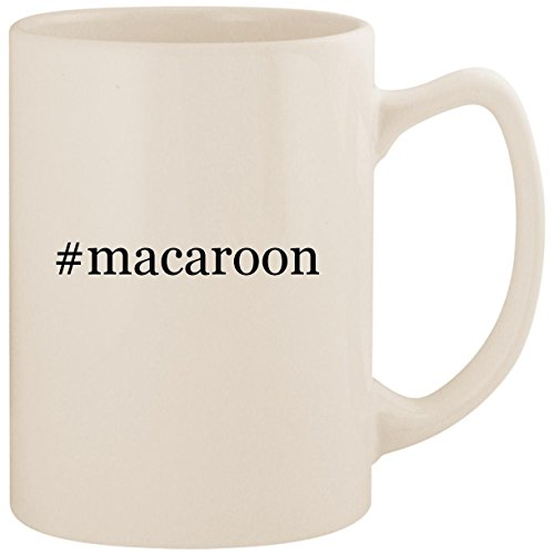 (#macaroon - White Hashtag 14oz Ceramic Statesman Coffee Mug Cup)