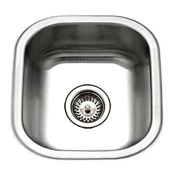 Image of Home Improvements Houzer MS-1708-1 Club Series Undermount Stainless Steel Square Bowl Bar/Prep Sink