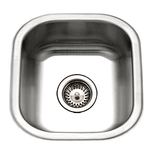 Houzer MS-1708-1 Club Series Undermount Stainless Steel Square Bowl Bar/Prep Sink ()
