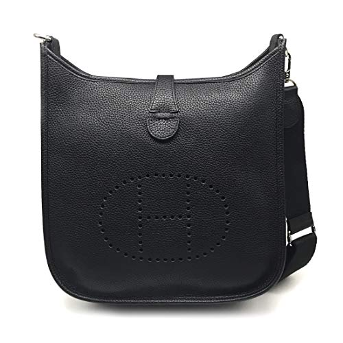 LUX TOGO CASUAL BAG/BLACK Genuine Leather Premium Togo Calfskin Womens Korean - Bag Lux Black