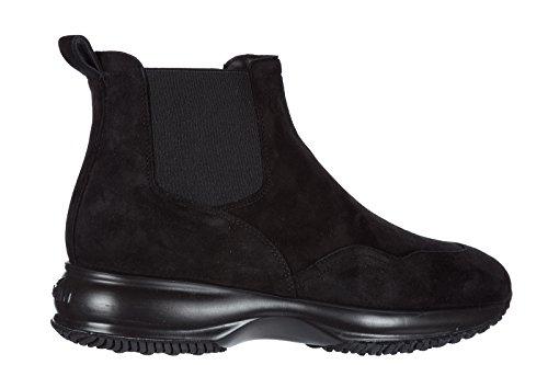 Hogan Women's Suede Desert Boots Lace up Ankle Boots Chelsea Black UK Size 5.5 HXW00N0J090CR0B999 cDYt06NK7