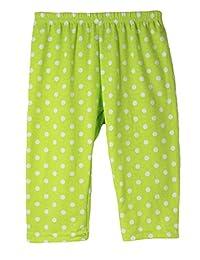 Wholesale Princess Lime Polka Dot Cotton Capris