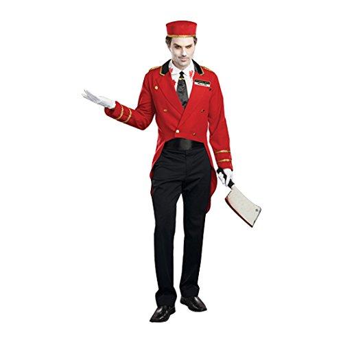 Dreamgirl Men's Horror Hotel Costume, Black/Red, (The Dream Hotel Halloween)
