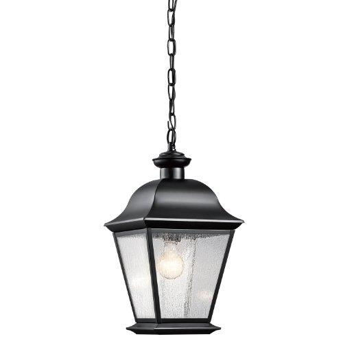 Kichler Lighting 9809BK Mount Vernon 1-Light Outdoor Hanging