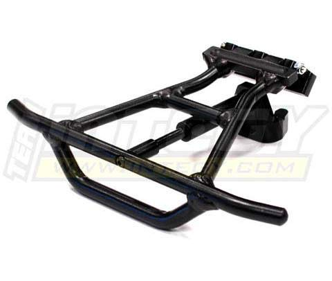 (Integy RC Model Hop-ups T8549BLACK Alloy Rear Bumper Conversion for Traxxas 1/10 Slash 4X4 (Non-LCG) )