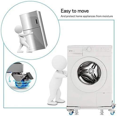 SEISSO Waschmaschine Sockel Untergestell f/ür K/ühlschrank Verstellbare Sockel f/ür Trockner Waschmaschine und K/ühlschrank