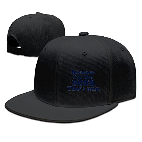 Zoom Amplifier (ZhiqianDF Men's Because I'm The Boss, That's Why Classic Baseball Black Caps Adjustable Snapback)