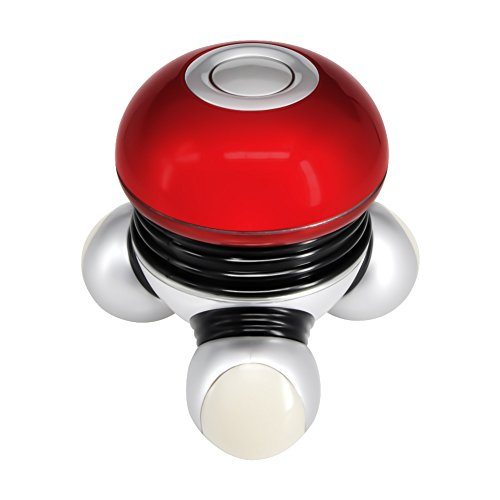 Chialstar Mini Electric Massager, Portable Body Vibrating Massage with Led Light Perfect for Head Neck Back Legs Arms Face Pain Release