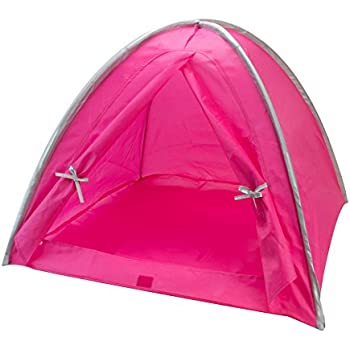 Amazon.com: Sophia's Doll Tent in Hot Pink & Silver Trim
