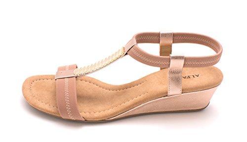 Alfani Womens Vacay Open Toe Casual Platform Sandals, Quartz, Size 10.5