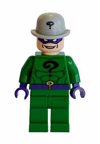 Lego Riddler Mashup. 2008 Head, 2012 Body & Hat. 100% Lego Parts