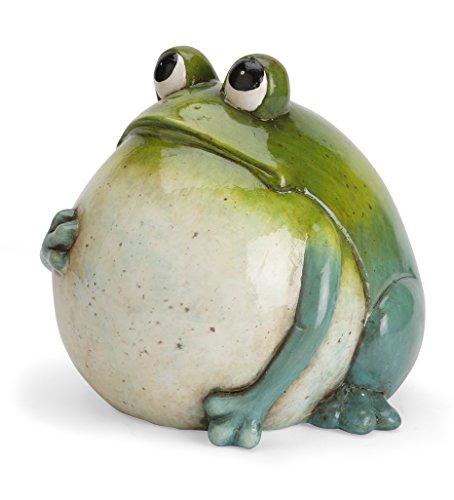 Big Belly Ceramic Frog (Outdoor Frog Statues)