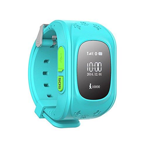 (Q50 SOS Alarm Kids Anti-lost Smart Watch with GPS Tracking Anti-lost SOS Children GPS Wrist Watch Phone GSM Unlocked Quad-band (Blue) ...)