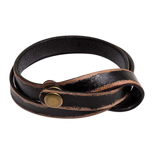 NOVICA Leather Cuff Bracelet