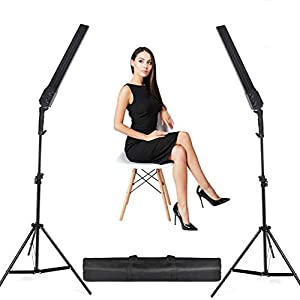 Best Epic Trends 41dpB2hGp0L._SS300_ 24W Bi-Color LED Dimmable Video Handheld Studio Lights 3200K~5500K Photography Continuous Output Lighting Lamps Kit with…