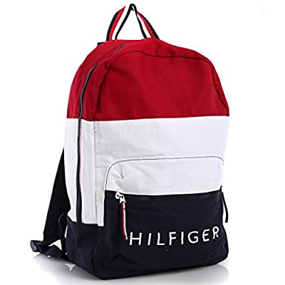durable modeling Tommy Hilfiger Colorblock Canvas Backpack - b-u-t.co.za 14360ddafa070