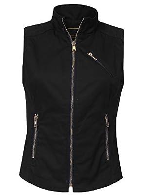 NE PEOPLE Womens Lightweight Sleeveless Short Anorak Style Vest S-3XL
