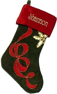 Amazon.com: Brown Cowboy Christmas Stocking Embroidered Free ...