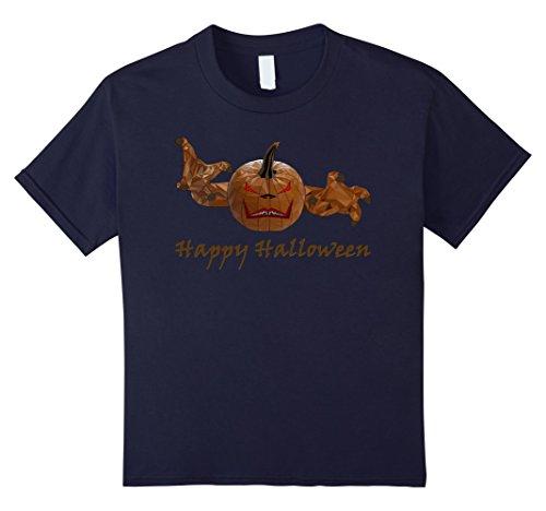 Kids Pumpkin King Halloween Costume Idea T-Shirt 12 Navy