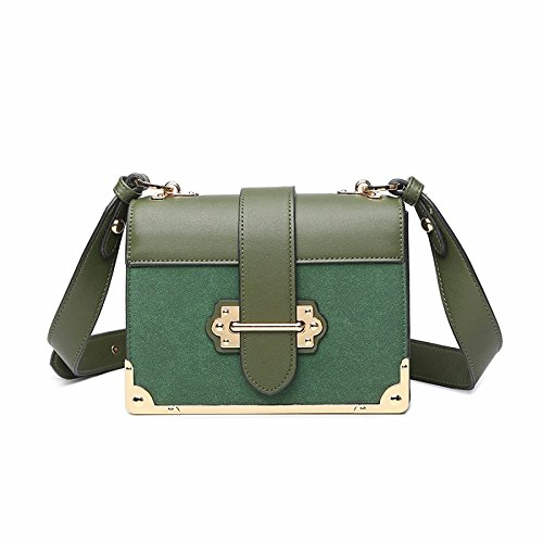 BAILIANG Mesdames Fashion Gommage Cuir Diagonale épaule Paquet Green