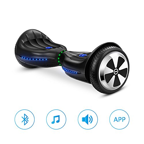 Eyourlife Hoverboard Two-wheel Self-balancing Scooter With Bluetooth Speaker - UL2272 Certified Hover Board With 6.5'' Aluminum Alloy Wheels,300W Dual Motor,Mobile APP Control by Eyourlife