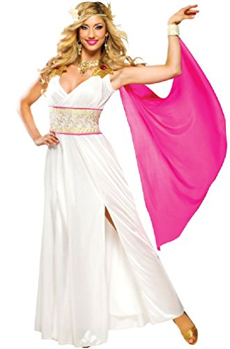 8eighteen Greek Aphrodite Grecian Goddess Adult Costume (Aphrodite Costume Child)