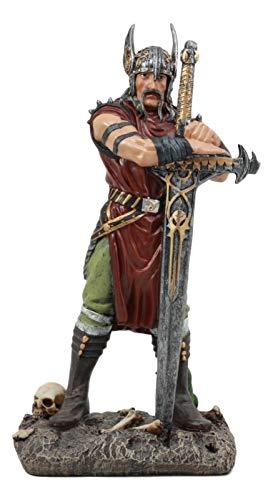 Ebros Medieval Age Harald The Conqueror Viking Warrior with Blade of Ragnarok Statue 11.75