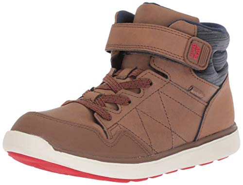 Stride Rite Baby Saul Boy's and Girl's Machine Washable Leather Sneaker Fashion Boot, Brown, 4.5 M US Toddler