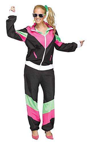 * NEW * Women's 80's Track Suit Costume - small or large