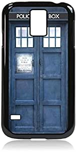 Tardis-Hard Black Plastic Snap - On Case with Soft Black Rubber LiningGalaxy s5 i9600 - Great Quality!